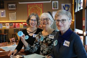 Julie, Sue and Volunteers at NAT event in 2020